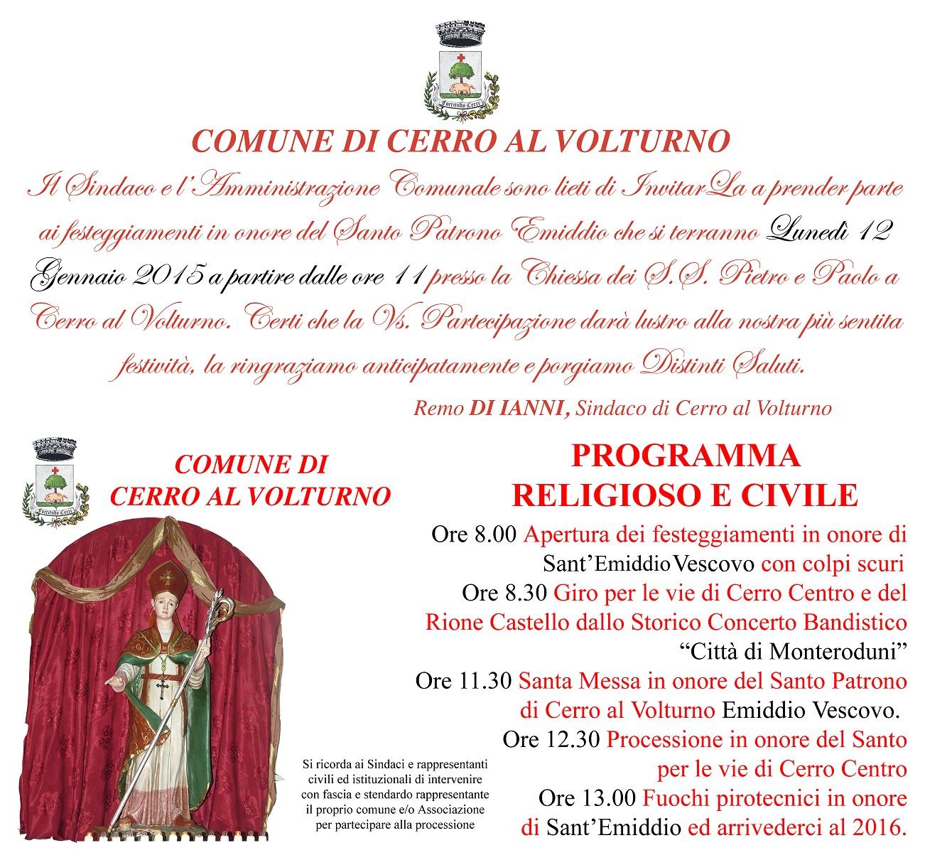 Invito Sant'Emiddio 2015