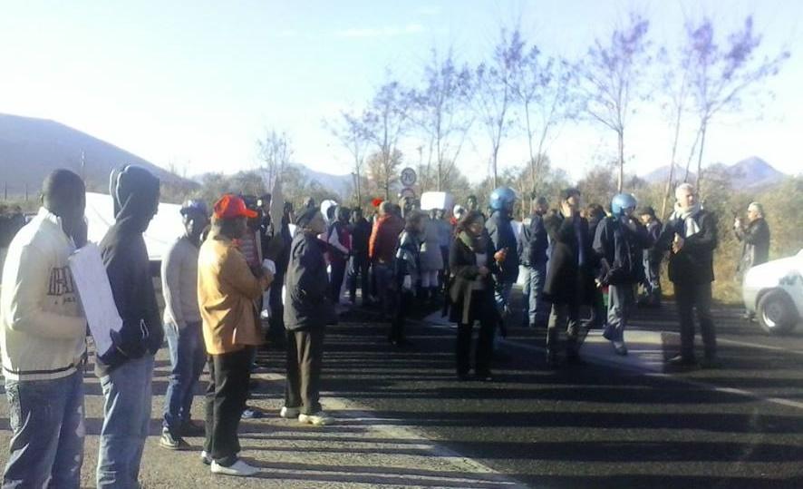 Protesta profughi Monteroduni 3