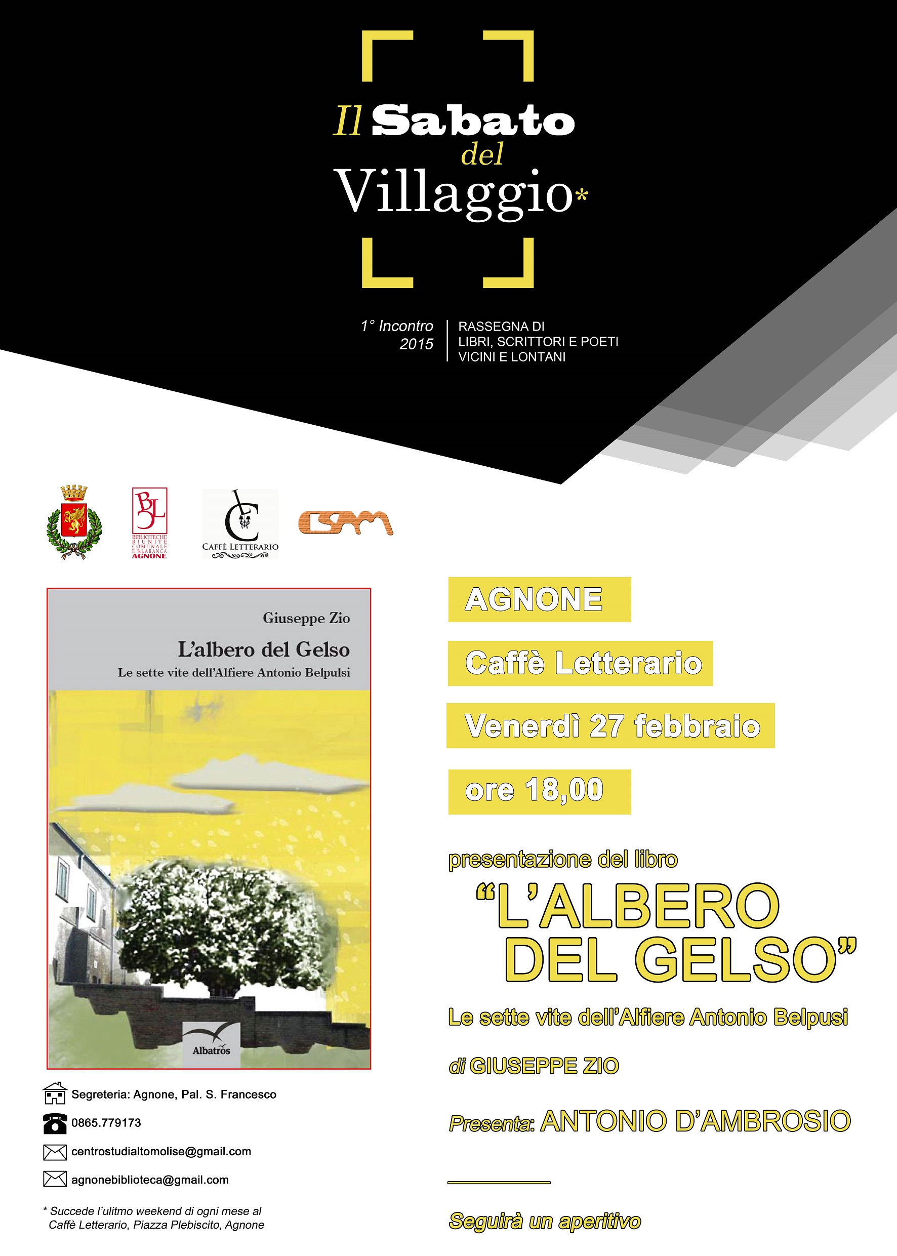 Manifesto L'albero del Gelso Giuseppe Zio (1)