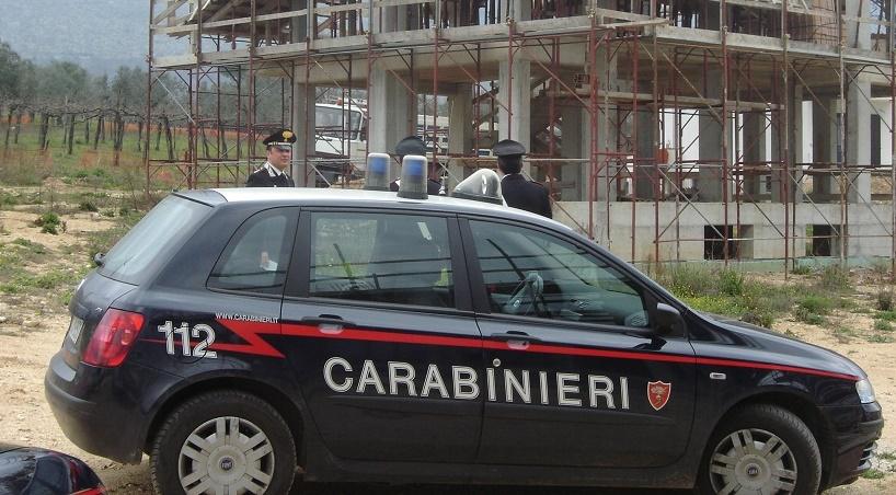 Carabinieri sul cantiere lavoro 2