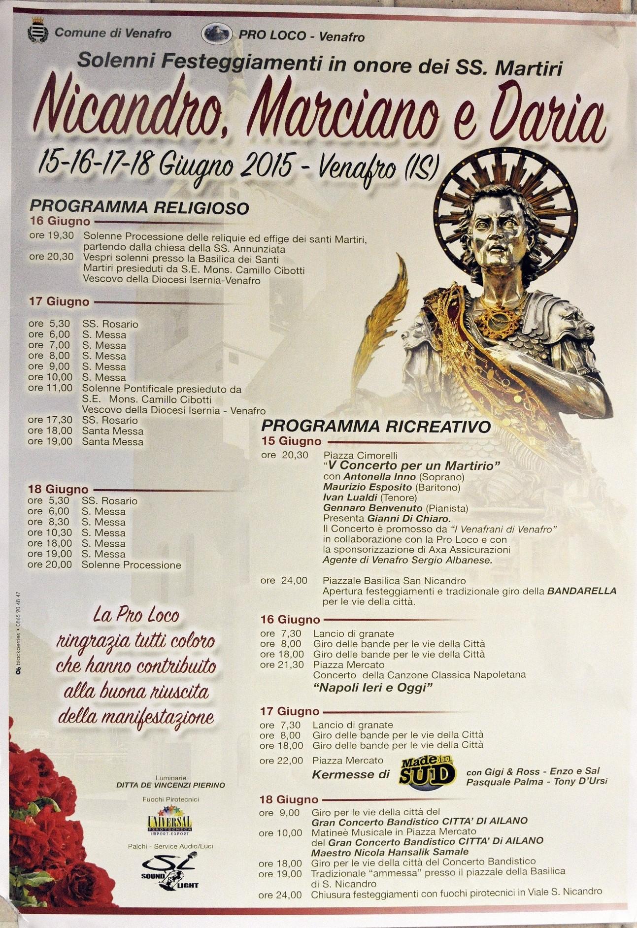 festa san nicandro 2015 programma