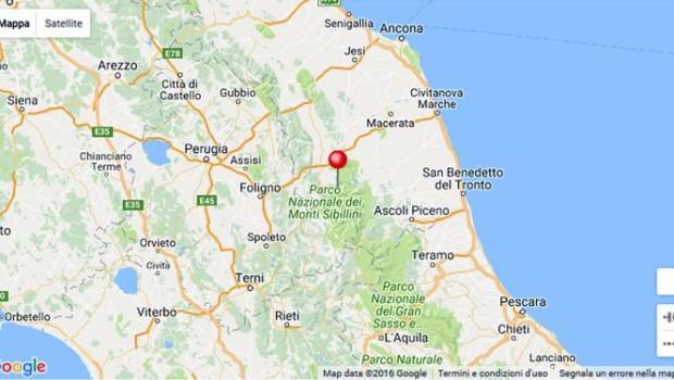 Epicentro Val Nerina, tra Umbria e Marche. Magnitudo 5.4