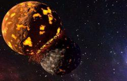 Collisione Luna Terra