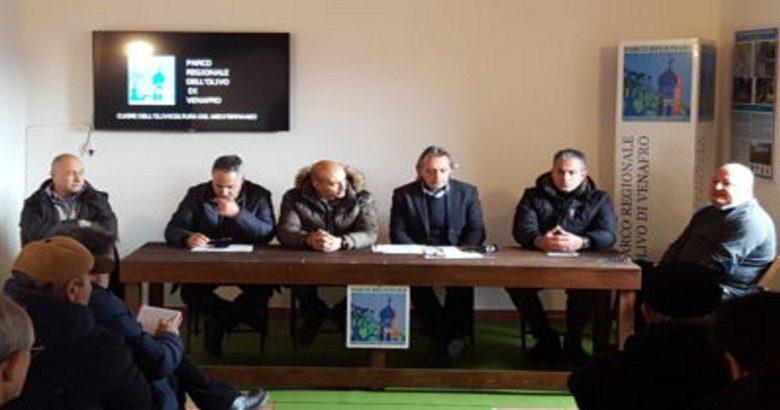 conferenza stampa parco dell'olivo