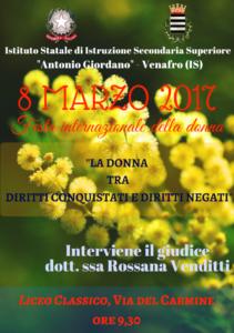 8 marzo 2017 liceo classico Venafro