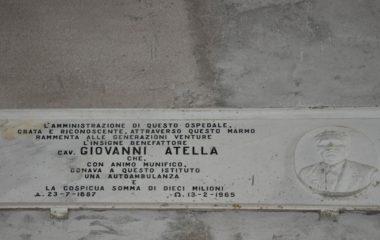 Lapide Cav. Giovanni Atella