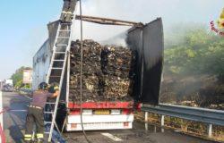 incendio rifiuti solidi urbani