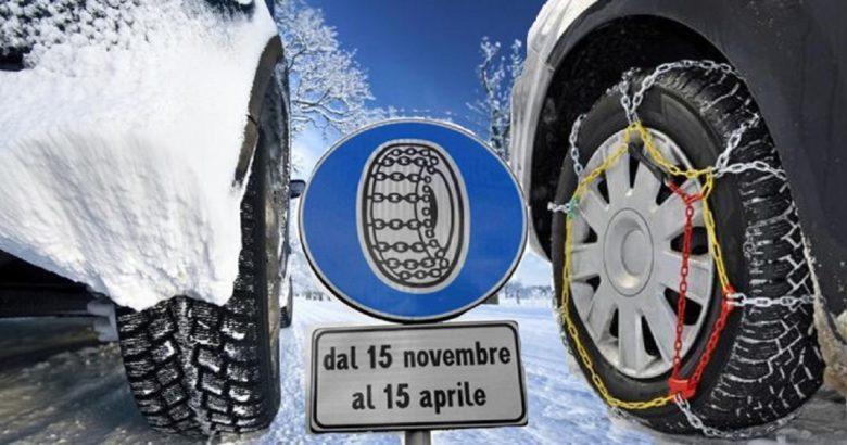 catene a bordo pneumatici invernali