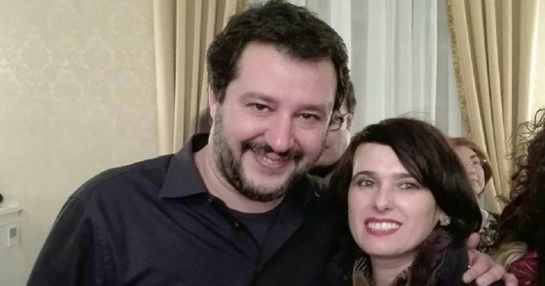 Matteo Salvini e Aida Romagnuolo