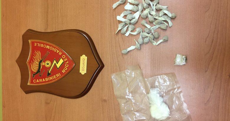 Cocaina eroinacobret e hashish, arrestato spacciatore 27enne Bojano