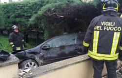 incidente campobasso auto sfonda muretto