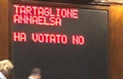 tartaglione forza italia vota no
