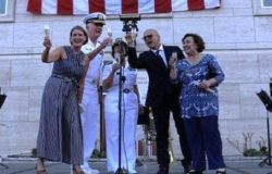 presidente Toma ieri sera a Napoli all'Independence day