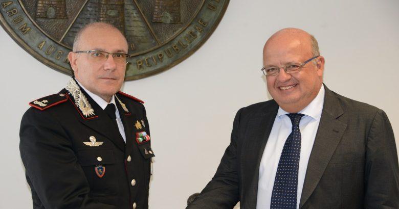 Incontro tra il Rettore Palmieri e il Gen. Cerrina