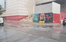 Sfonda il muro dell'Auditorium Unità d'Italia e scappa, murales dedicato a Stefania Cancelliere distrutto