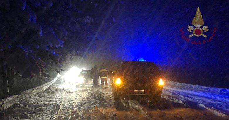 MALTEMPO - Prima nevicata, primi disagi Alto Molise