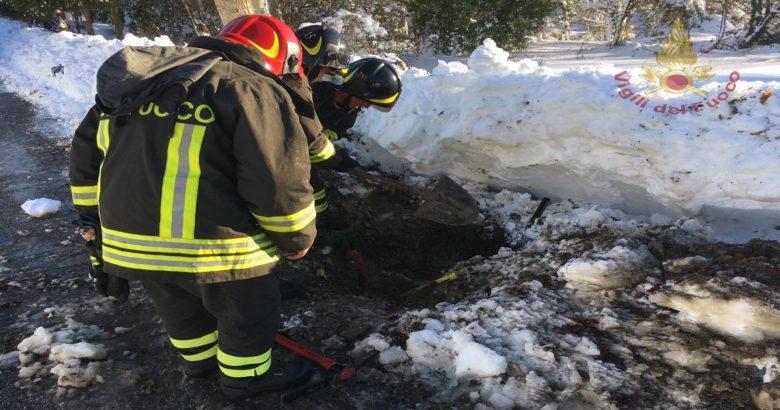 Pietrabbondante Fuga di gas, evacuate due case, neve