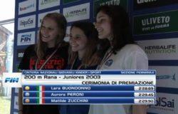 NUOTO, Oro, venafrana, Lara Buondonno, Criteria nazionali giovanili, Riccione