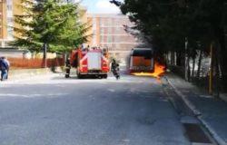 autobus in fiamme campobasso