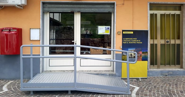 CONCA CASALE, Ufficio postale, barriere architettoniche