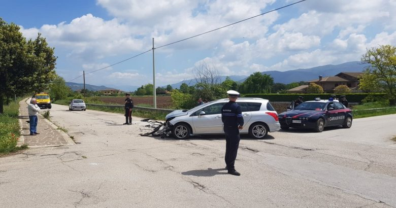 VENAFRO - Incidente sul Lungorava, due feriti