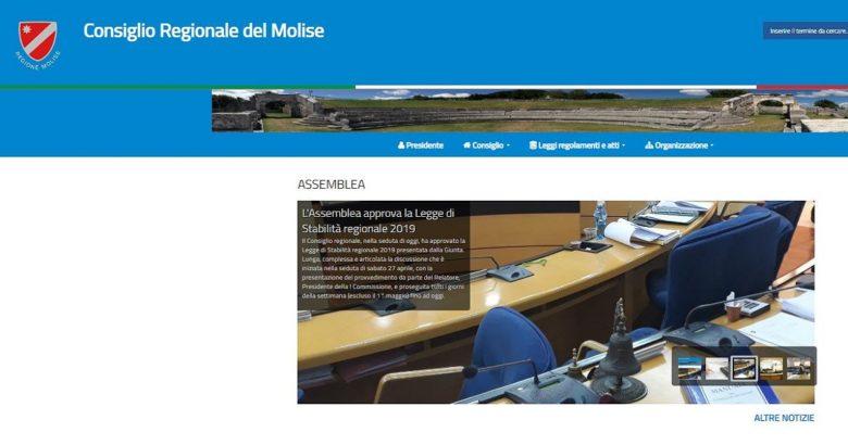 sito consiglio regionale Molise