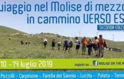 POZZILLI - In cammino verso est, il viaggio nel Molise di mezzo dal 10 al 14 luglio 160 km con arrivo a Termoli