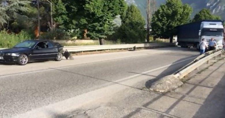 VENAFRO - Incidente, violento tamponamento camion-auto