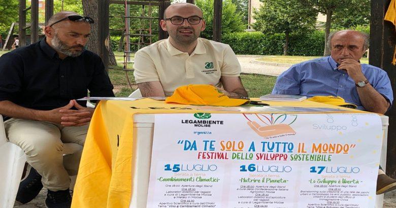 """LEGAMBIENTE - """"Da te solo a tutto il mondo"""",a Campobasso il primo Festival dello sviluppo sostenibile"""