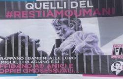 POLITICA - Campagna contro il Pd di Forza Nuova, avrebbe utilizzato alcuni simboli dei Misteri. Condanna del sindaco Gravina