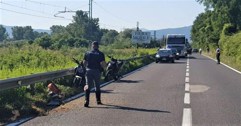 SESTO CAMPANO - Grave incidente sulla Statale 85 tra Sesto Campano e Presenzano, ferito un centauro...