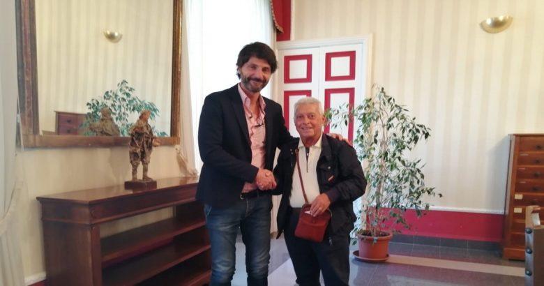COLLINA MONFORTE - Prima dei lavori il sindaco Gravina ha incontrato il presidente dell'Associazione nazionale famiglie dei Caduti di Guerra