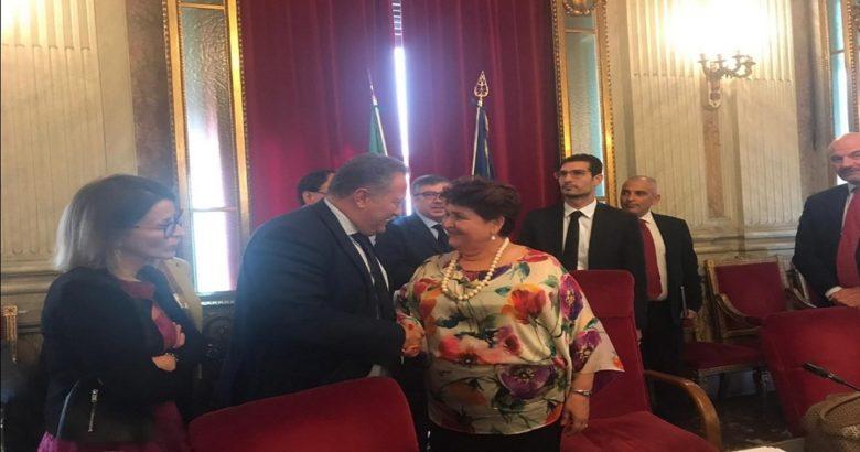 Cavaliere incontra il Ministro Terranova