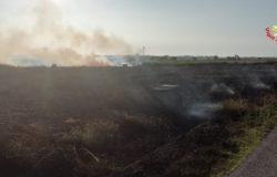 INCENDIO - Oltre sette ettari di incolto a fuoco, le fiamme lambiscono un maneggio