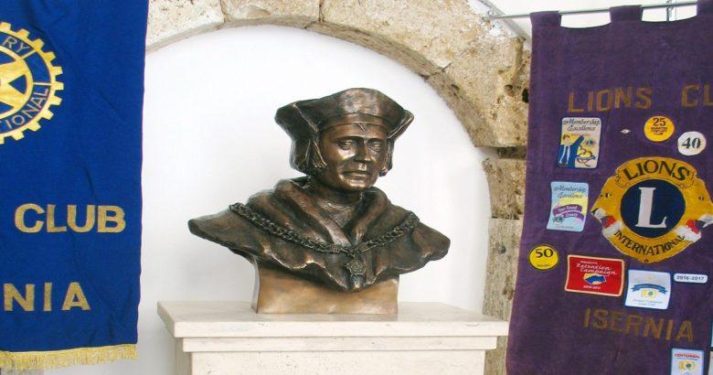 ISERNIA - San Tommaso Moro, patrono dei governanti e dei politici cerimonia di scopertura del busto bronzeo a Palazzo San Francesco