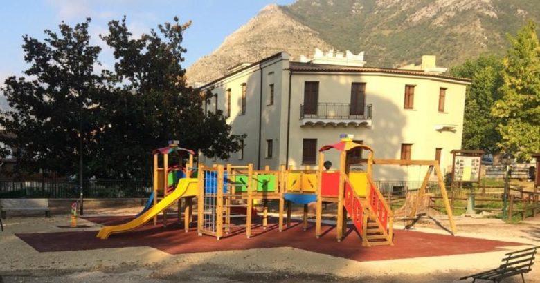 VENAFRO - Villa Maria, nuovi giochi per bambini