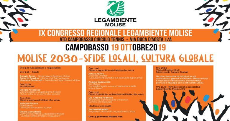 """""""Molise 2030 Sfide locali, cultura globale"""", Legambiente Molise va a congresso"""