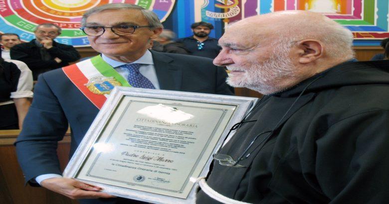 ISERNIA - Conferimento della cittadinanza onoraria a Padre Luigi Marro
