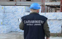 CONTROLLI - Blitz dei carabinieri nei cantieri, denunciato un imprenditore quasi 13mila euro di multa