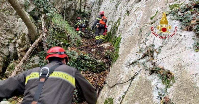 CRONACA - Bloccato da giorni su un costone, Ariegeois salvato dai Vigili del Fuoco