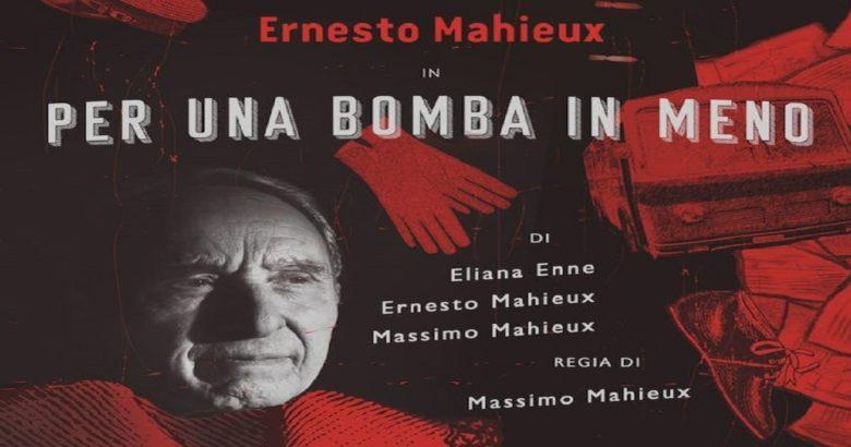ISERNIA - Al Nuovo Teatro Il Proscenio ospite Ernesto Mahieux con 'Per una bomba in meno'