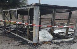 fuoco l'isola ecologica di Filignano