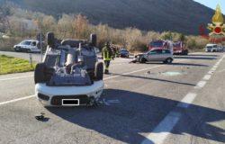 Castelpetroso, Incidente stradale, scontro, auto, auto si ribalta