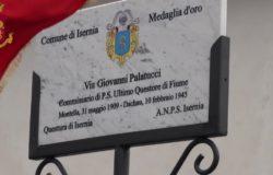 ISERNIA - Scoperta targa in ricordo del Questore di Fiume Giovanni Palatucci
