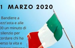 CORONAVIRUS - Bandiere a mezz'asta in segno di lutto, alle 12 l'Italia si ferma