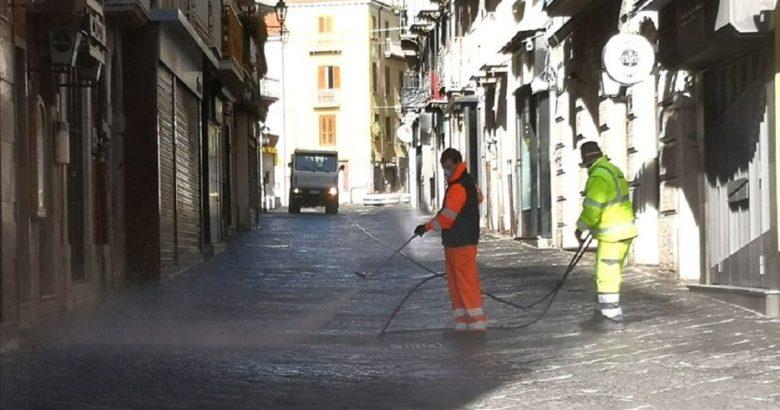 CORONAVIRUS, Campobasso, pulizia strade, igiene urbana