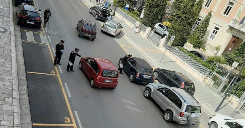 CORONAVIRUS - I Carabinieri passano al setaccio il centro di Campobasso