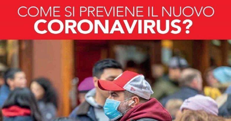 """REGIONE - """"Come si previene il coronavirus"""", campagna su web e social"""
