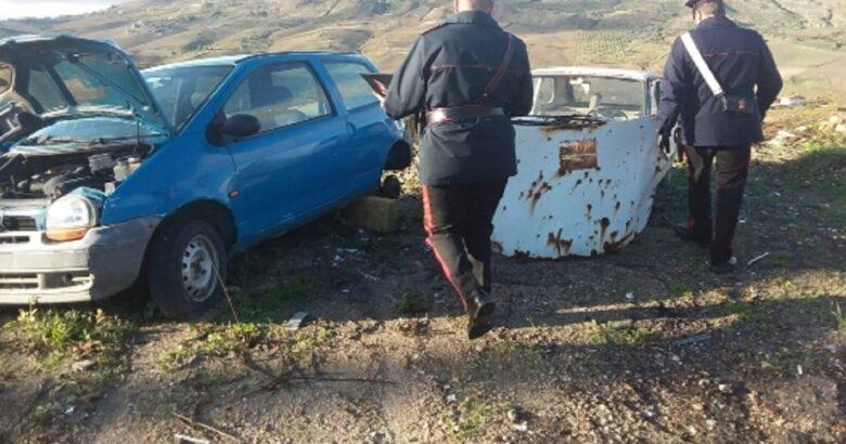 Abbandona, auto, danneggiata, terreno, multato