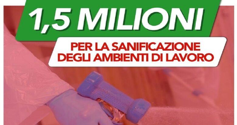 """REGIONE - """"Io riparto sicuro"""", 1.500.000 euro per piccole e medie imprese e liberi professionisti"""
